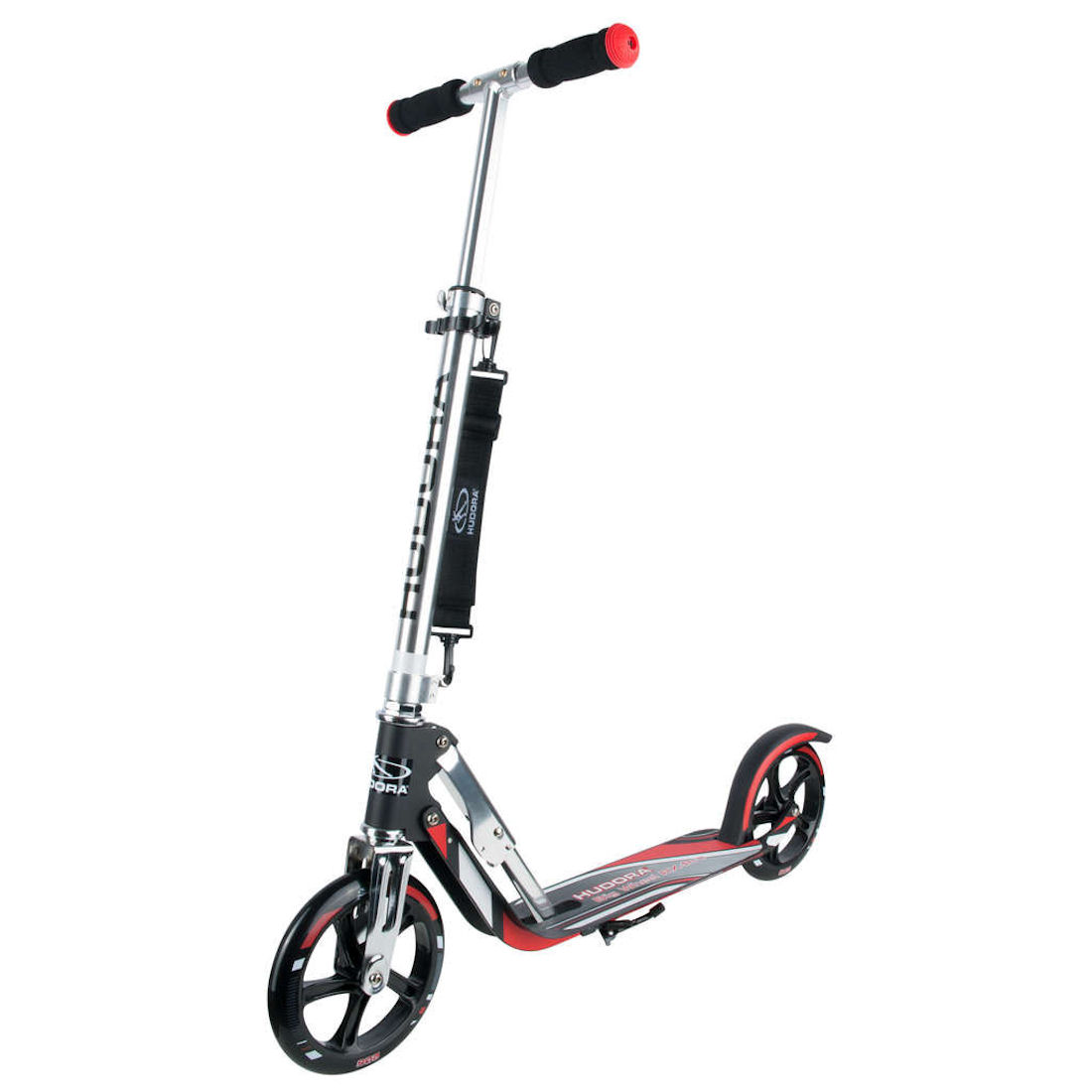 hudora big wheel 205 roller rx pro 205 scooter rot schwarz ebay. Black Bedroom Furniture Sets. Home Design Ideas
