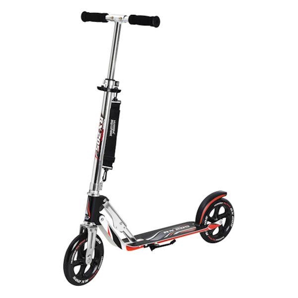 hudora roller big wheel rx 205 scooter schwarz silber rot. Black Bedroom Furniture Sets. Home Design Ideas