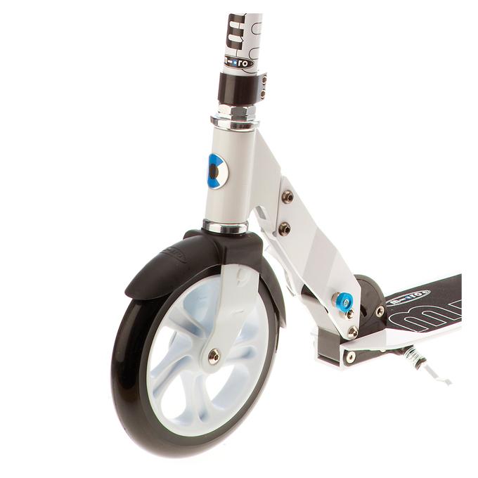 micro scooter white 200mm ebay. Black Bedroom Furniture Sets. Home Design Ideas