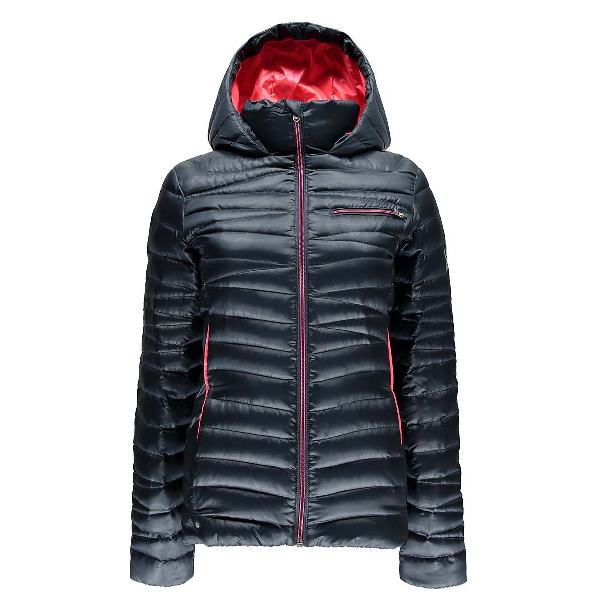 spyder timeless hoody down jacket damen daunenjacke blau. Black Bedroom Furniture Sets. Home Design Ideas